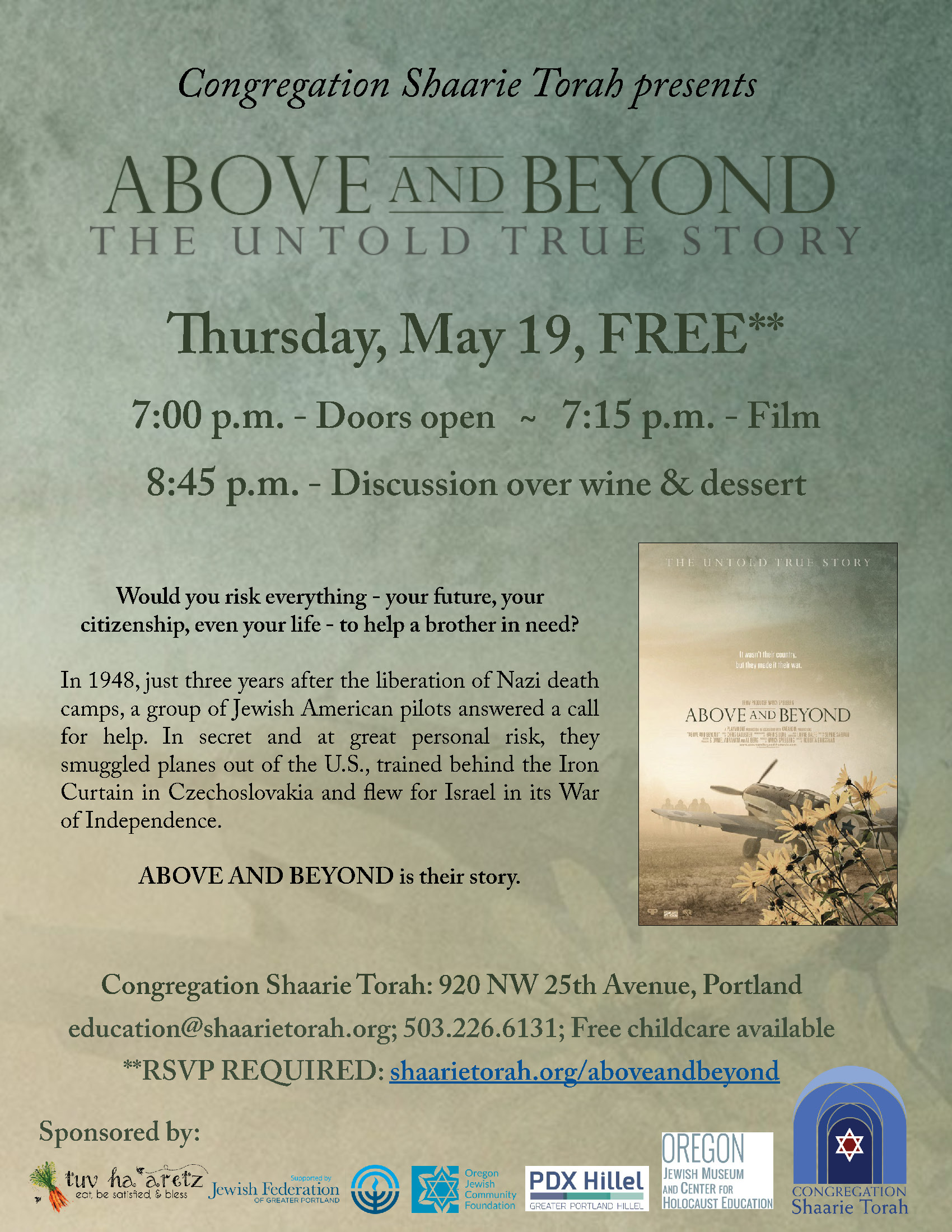 Above and Beyond Screening Flyer - For Bulletin